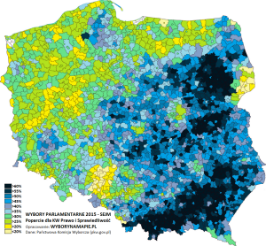 Gotowe Spółki - Poland Elections 2016 - Regional Differences in Poland